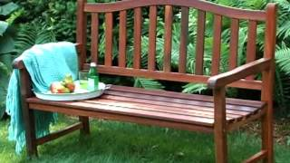 Coral Coast Richmond Arched Back 4 Ft  Outdoor Wood Bench - Product Review Video