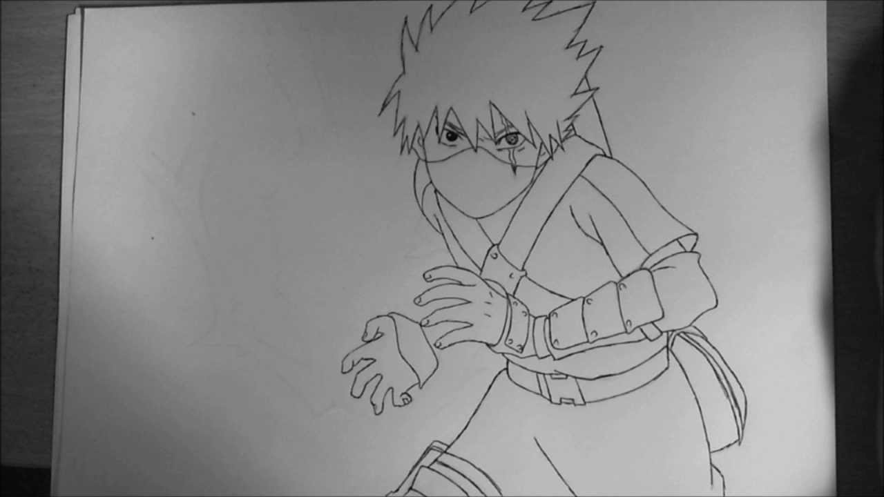 How to draw Kid Kakashi (Raikiri) - YouTube