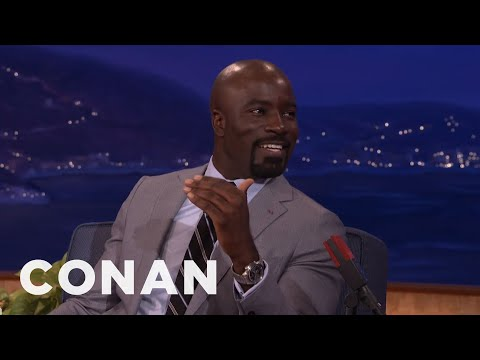 Mike Colter's Voice Dropped When He Was 10   CONAN on TBS