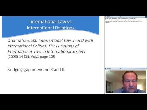 Webinar International law for diplomats