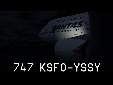 Prepar3d V4 - Qantas 747-400ER - San Francisco to Sydney (KSFO-YSSY)