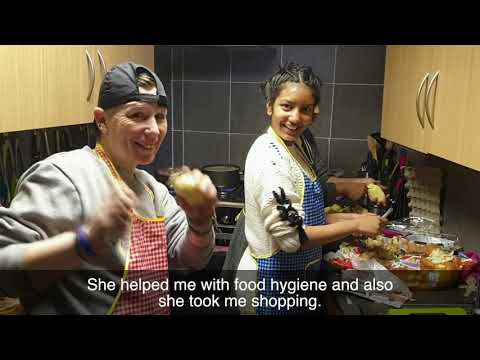 Hannah Chowdhry helps out the homeless