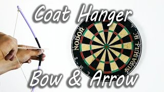 How To Make A Coat Hanger Bow And Arrow