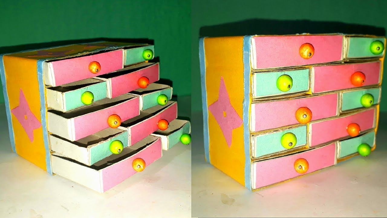 Handmade matchbox crafteasy jewelry box making from waste match box