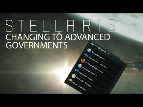 Stellaris - Changing to Advanced Government Types