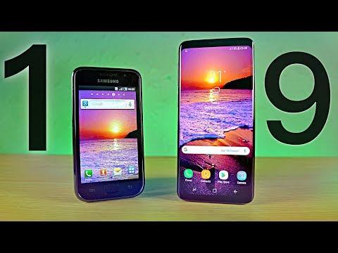 Samsung Galaxy S1 vs S9 - 8 YEARS Comparison!