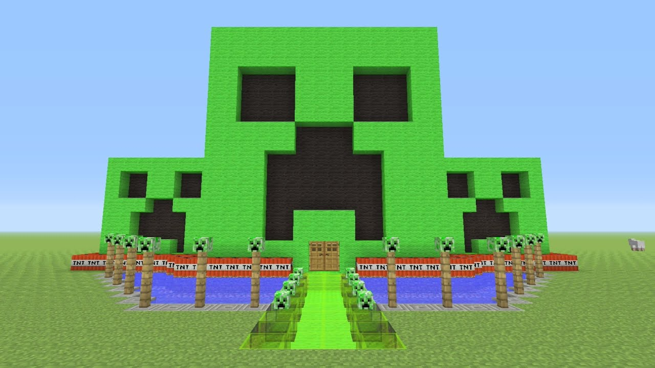 Minecraft Awesome CREEPER Survival House YouTube - Awesome minecraft houses
