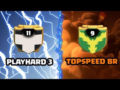 WAR Recap   PLAYHARD 3  vs  TOPSPEED BR - Melhores replays CLASH OF CLANS 2017