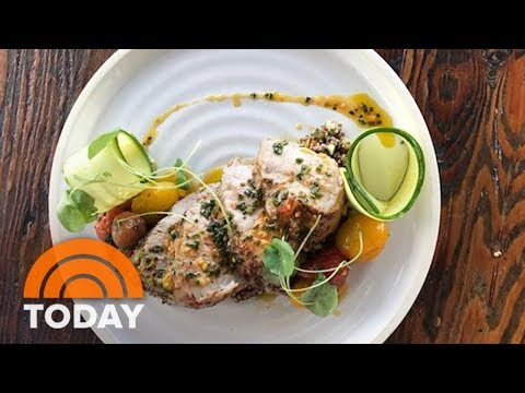 Make Delicious And Healthy Pork Tenderloin With Quinoa Salad And Cherry Tomatoes | TODAY