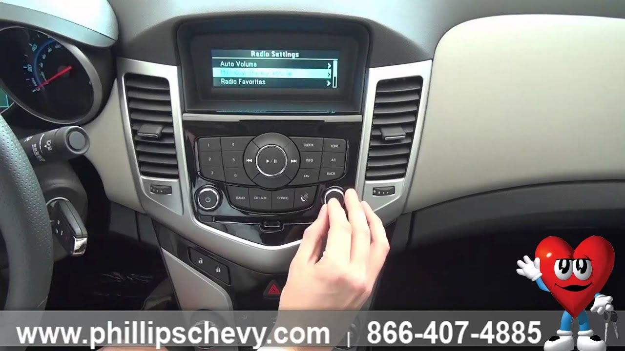 Phillips Chevrolet - 2014 Chevy Cruze LS - How-To: Radio Controls - Chicago  New Car Dealership