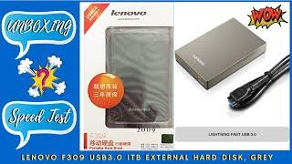 USB 3 0 External Hard Disk Lenovo F309 1TB Grey India Hindi 2020