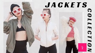 10  JACKETS in 2 MINUTES | Zara, H&M , Forever 21 |Day 8  Jacket collection