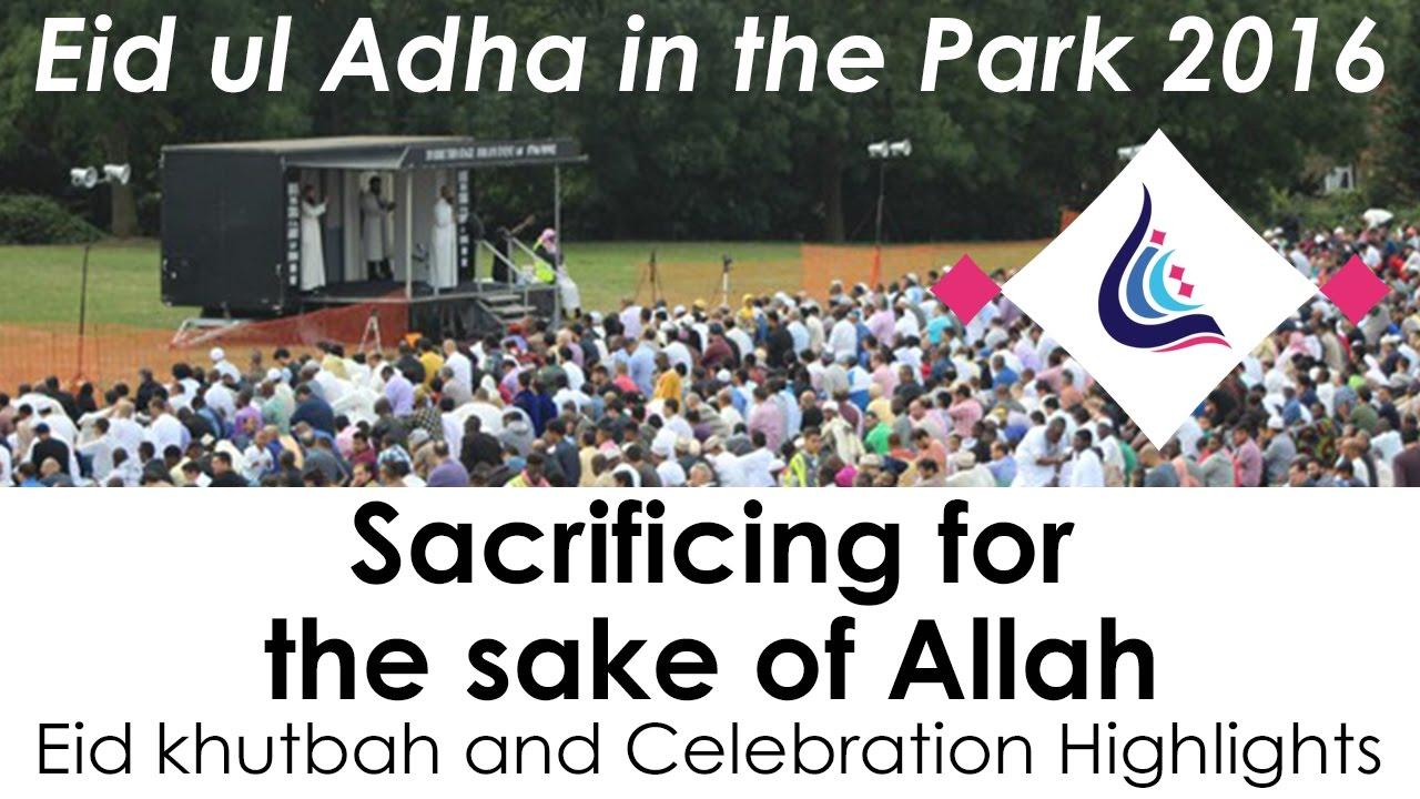 Lewisham Islamic Centre - Eid ul Adha in the Park 2016 - Khutbah & Highlights