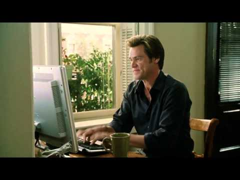 Jim Carrey tries typing test