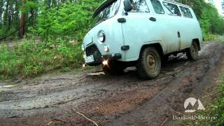 Russian UAZ 4x4 - off-road and all-terrain in the taiga of Olkhon Island