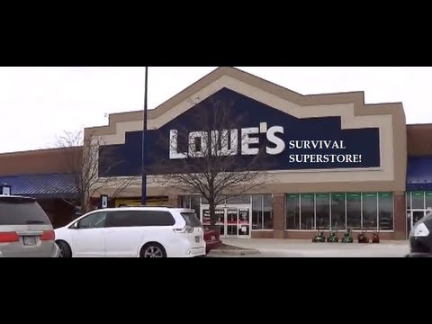 What survival kit items can I find at Lowes?