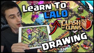 *DRAWING* Out Max Town Hall 12 Air Attacks! Learn how to Lalo! | Clash of Clans