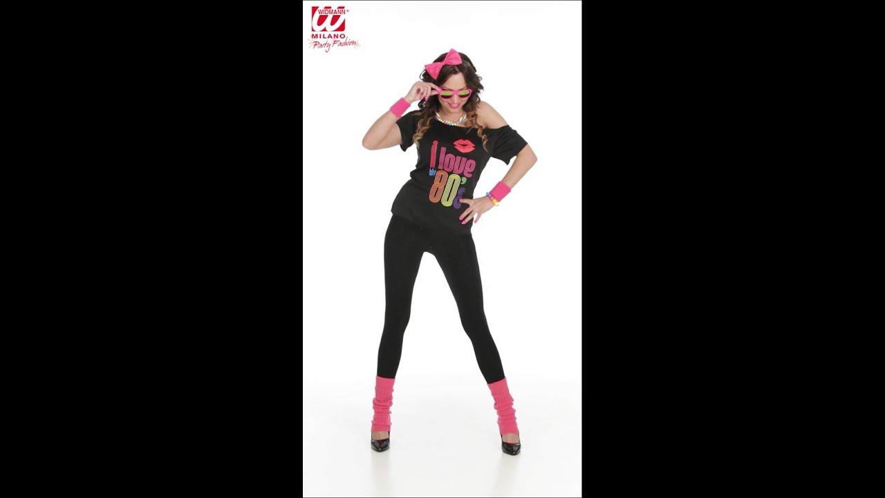c63cfef62 Disfraz años 80 mujer - YouTube