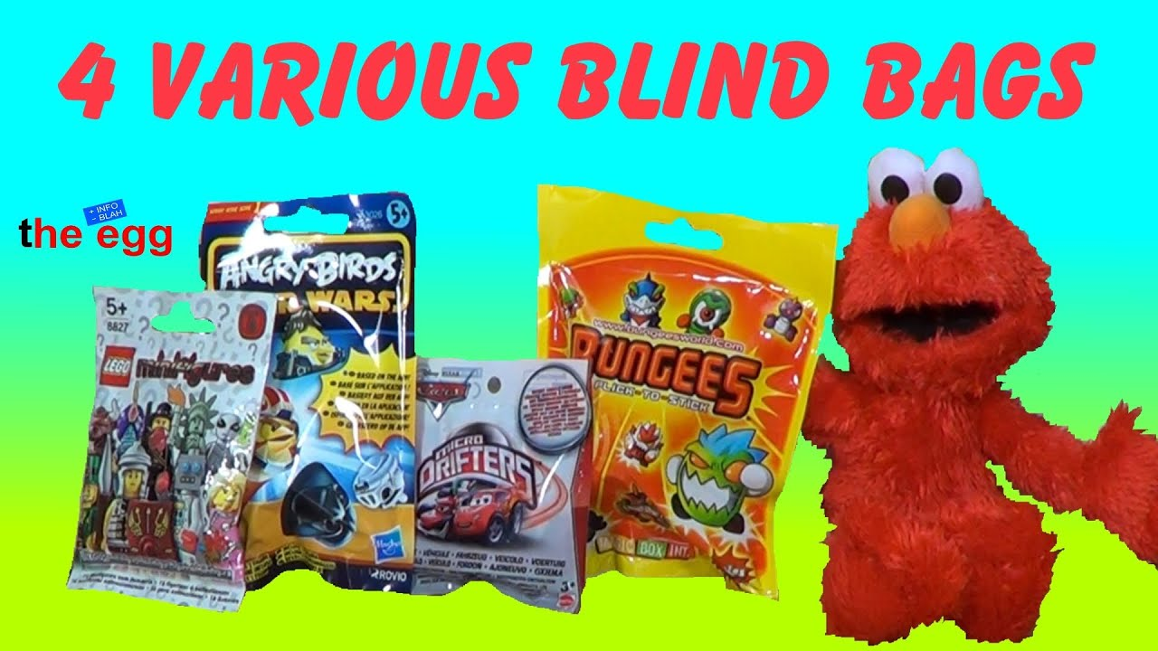 4 Various Blind Bags Lego Angry Birds Micro Drfiters