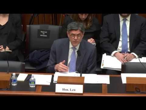 Hensarling Questions Treasury Secretary Jack Lew