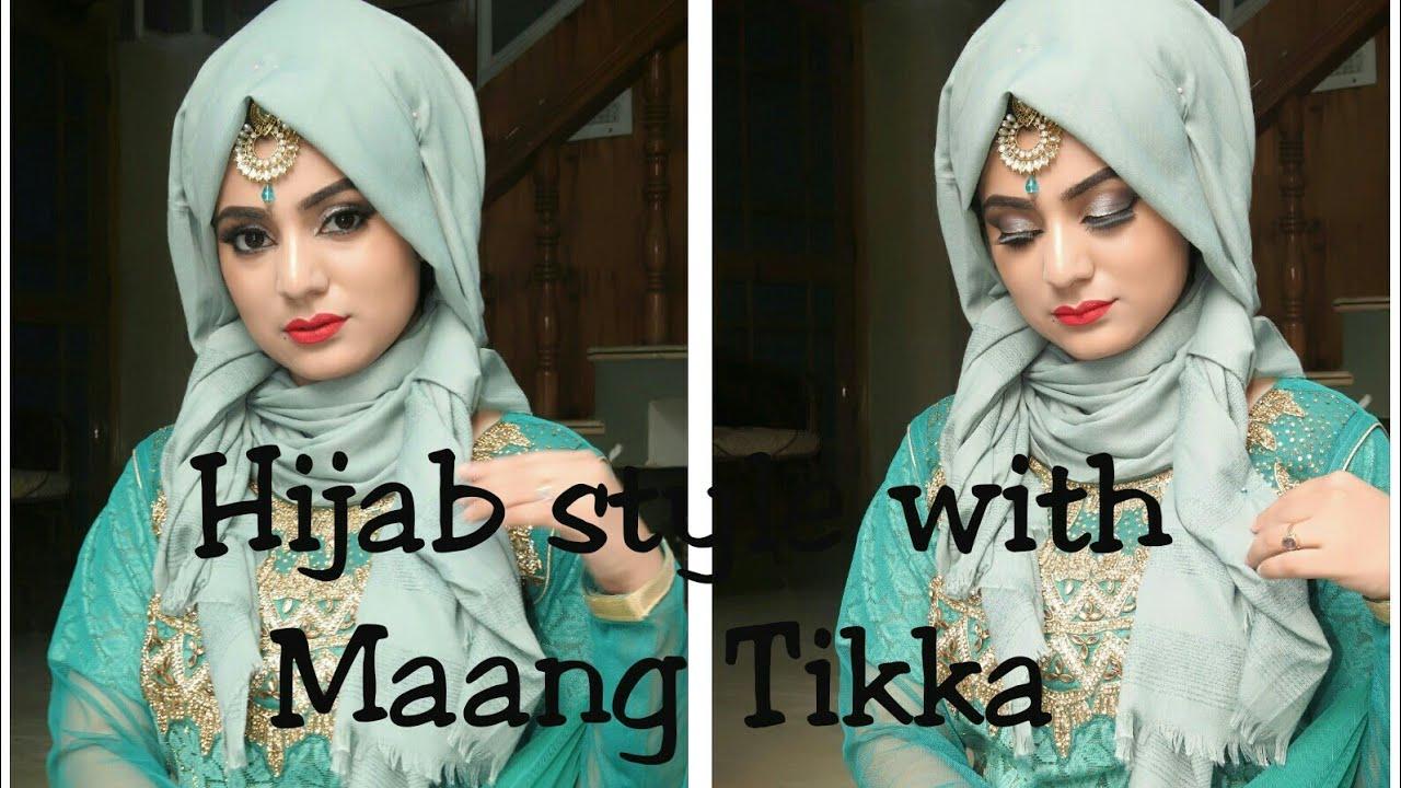 2 Minutes easy Hijab Style with Maang Tikka || Hijab style 2020 || Hijab style