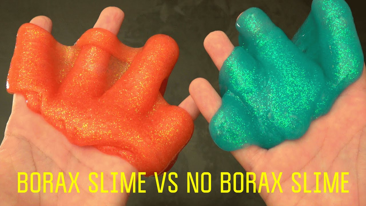 Glitter Slime Without Borax Vs Borax Slime Recipe  How To Make Silly Putty