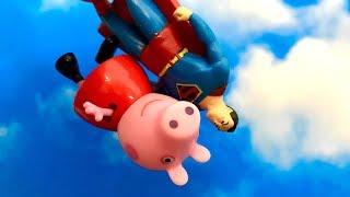 Świnka Peppa i Superman ♦ Tylko ja umiem latać ♦ Bajka dla dzieci PO POLSKU