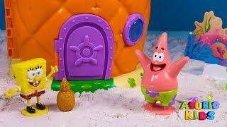 🌟 BOB ESPONJA 🌟 Levantadonse para ir al Crustaceo Crujiente | Vídeos de juguetes en español
