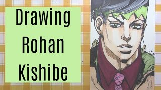 Drawing Rohan Kishibe from Jojo