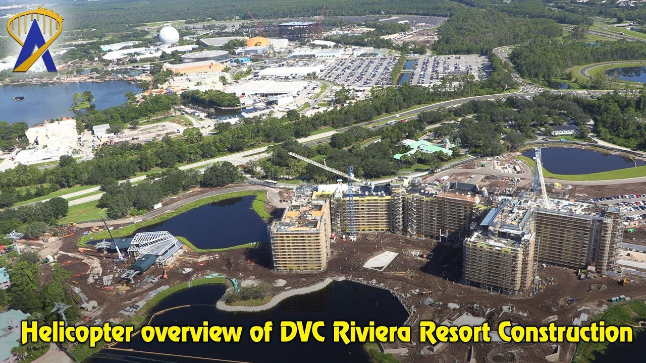 Disney Riviera Resort construction helicopter aerial tour