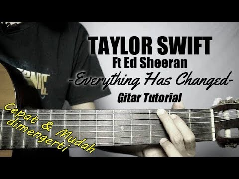(Gitar Tutorial) TAYLOR SWIFT - Everything Has Changed |Mudah & Cepat dimengerti pemula thumbnail