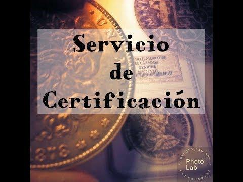 Servicio de Certificación ó Calificación (Coin Grading Services)