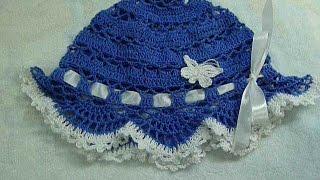 Панамка крючком детская, вязание для начинающих,baby hat for summer