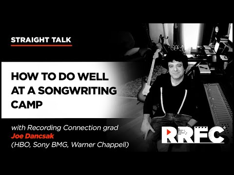 Recording Connection How to Do Well at a Songwriting Camp