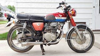 Barn Find Honda CB350 Sitting For Years. Will It Run?