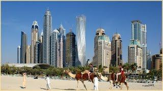 DUBAI - JUMEIRAH BEACH, außergewöhnliche Skyline