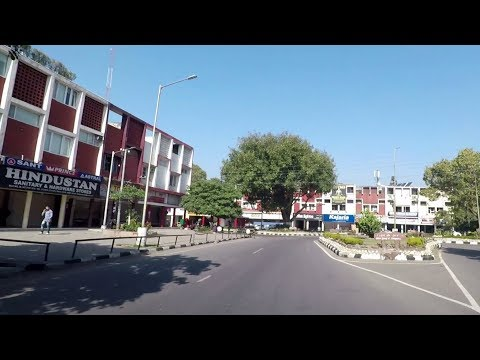 Driving in Chandigarh (Sector 28 to Sector 18) - India