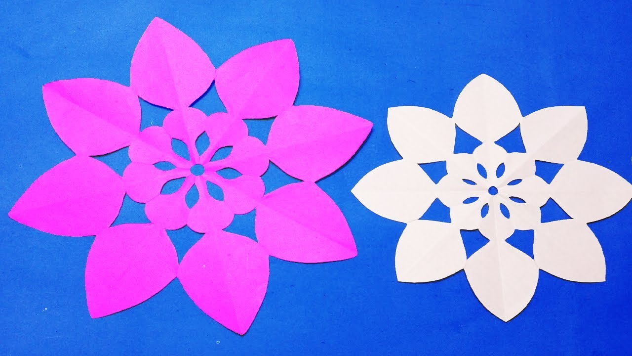 Paper Cutting Decoration How To Simple Paper Cutting Flowers Designs