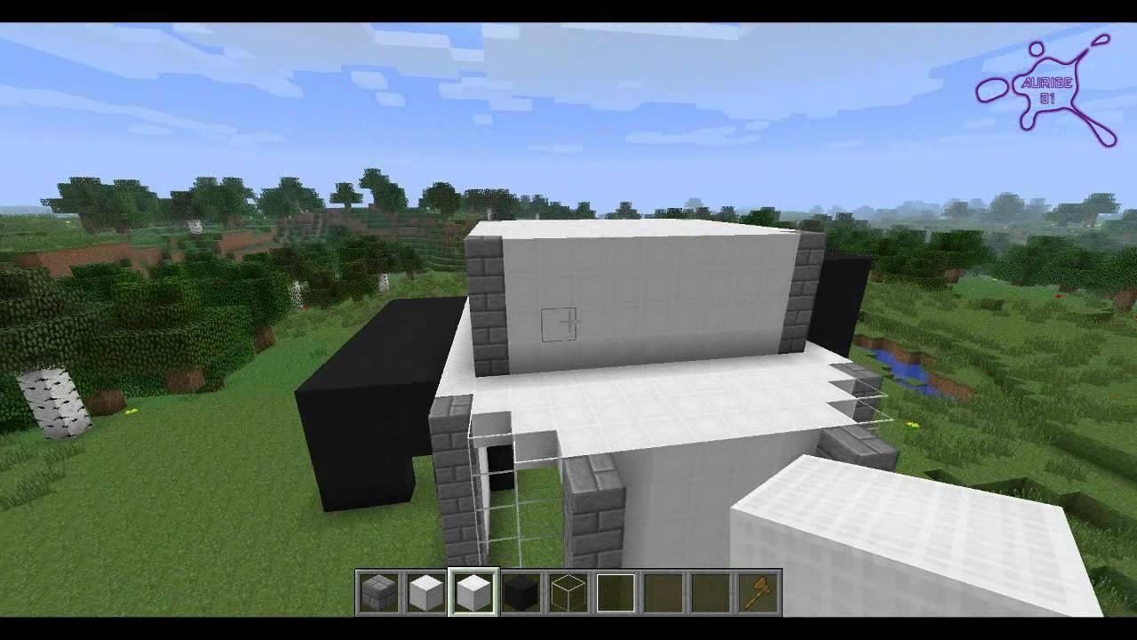 Minecraft Tuto Maison Moderne N 2 Youtube