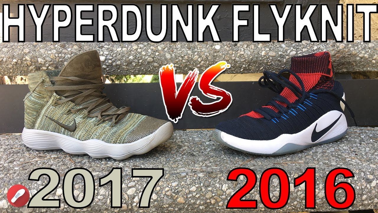 8dd8b8545bfc Nike React Hyperdunk 2017 Flyknit vs Hyperdunk 2016 Flyknit! The Sole  Brothers