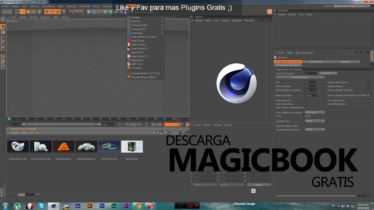 Magic Book C4d Plugin