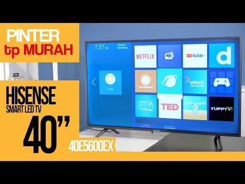 "TV UNTUK FANS NETFLIX !! HISENSE SMART TV 40"" (40E5600EX) Quick Review Indonesia"