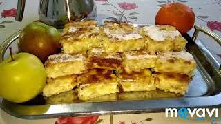 """Творожная """"Шарлотка"""" с яблоками #рецепт #вкусняшки #выпечка #yummy #hornear #шарлотка #пирог #pie"""