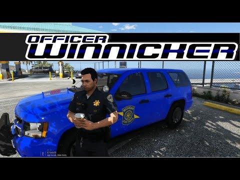 GTA V - LSPDFR # 5 Michigan State Police Tahoe!