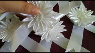 كيفية عمل مفيتحات على شكل وردة باللون الابيض (حصري على قناتي)