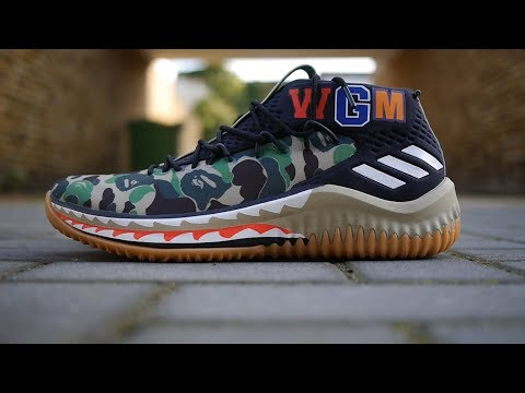 1e56afdfd31f BAPE x Adidas Dame 4 Quick Look   On Feet (Green Camo)
