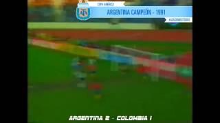 SELECCION NACIONAL - Argentina campeón Copa América 1991