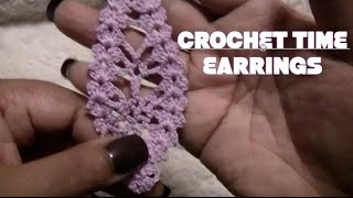 CROCHET TUTORIAL TIME: EARRINGS (onevirtuouswoman)