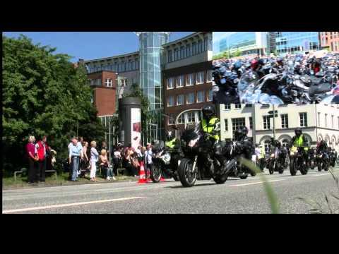 MOGO Motorradgottesdienst Hamburg  - Konvoi vom Hamburger Michel nach Kaltenkirchen - Hamburg  2013