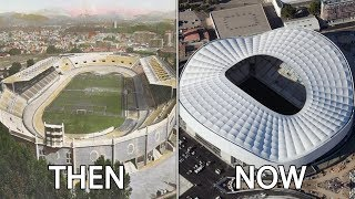 Ligue 1 Stadiums Then & Now
